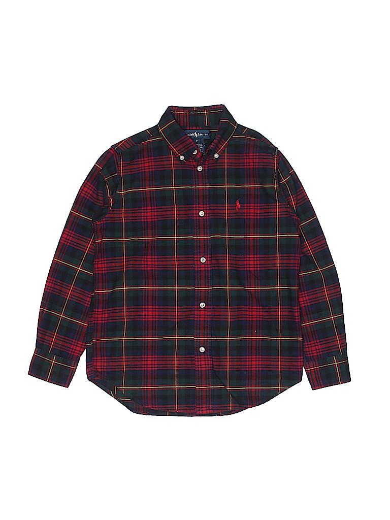 Polo by Ralph Lauren Boys Long Sleeve Button-Down Shirt Size 7