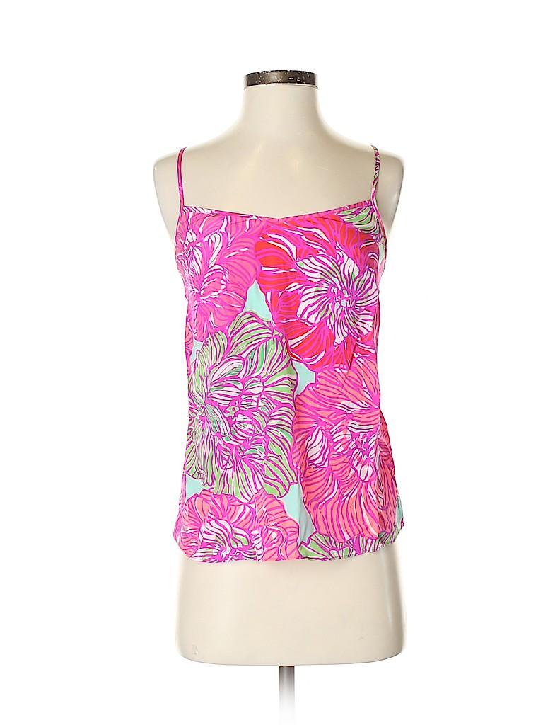 Lilly Pulitzer Women Sleeveless Silk Top Size XXS