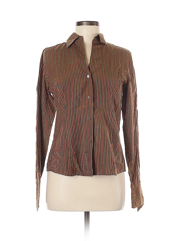 Doncaster Women Long Sleeve Button-Down Shirt Size 10