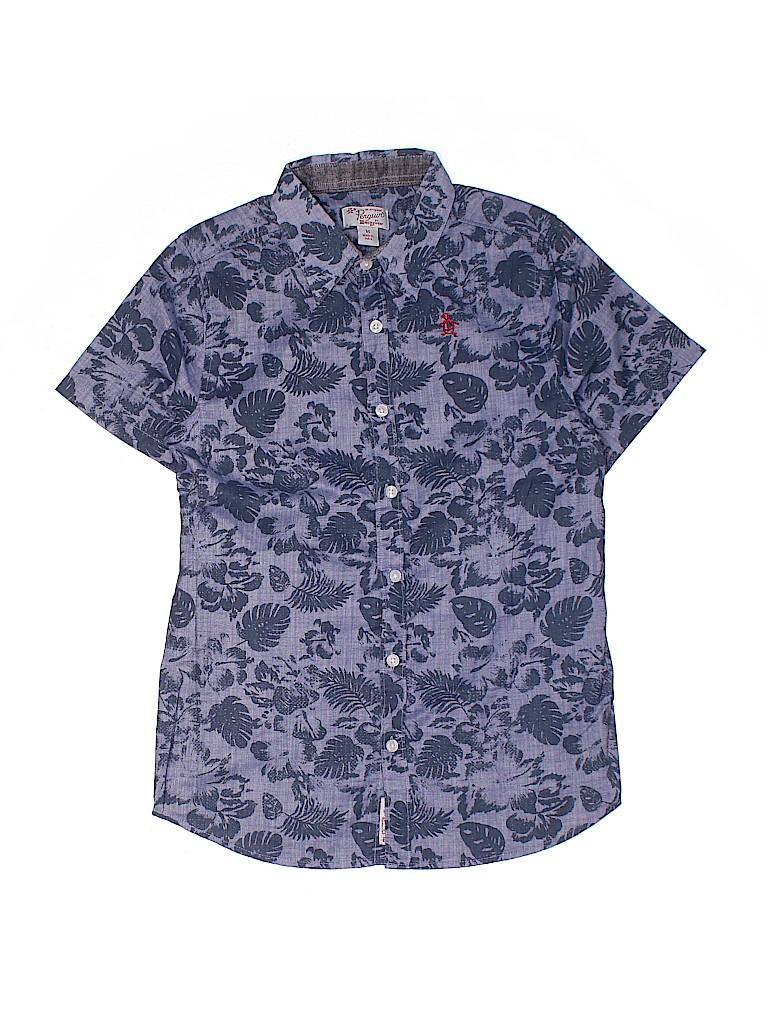 An Original Penguin by Munsingwear Boys Short Sleeve Button-Down Shirt Size M (Kids)