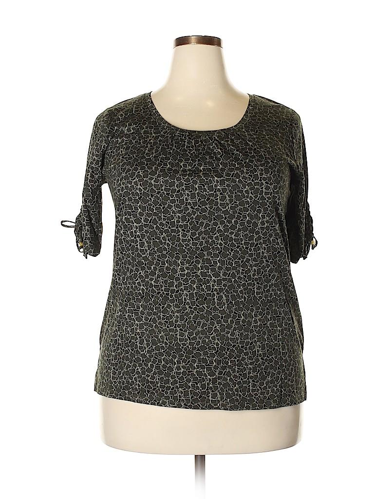 MICHAEL Michael Kors Women Short Sleeve Top Size XL