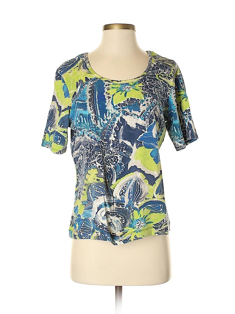 Chico's Women Short Sleeve T-Shirt Size Med (1)