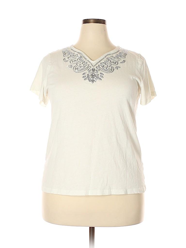 Cj Banks Women Short Sleeve Top Size 1X (Plus)