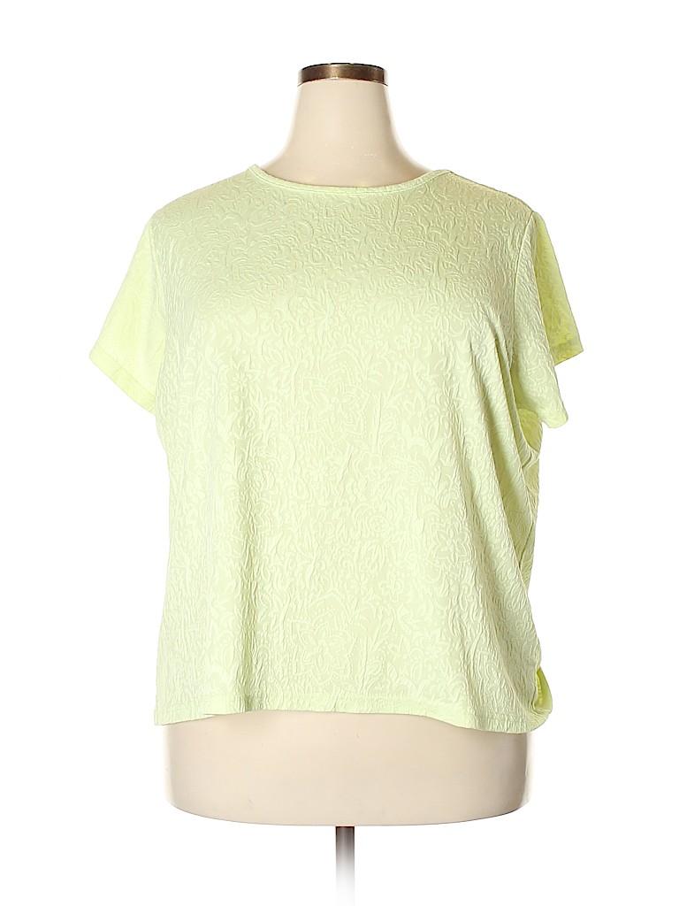 Cj Banks Women Short Sleeve Top Size 2X (Plus)