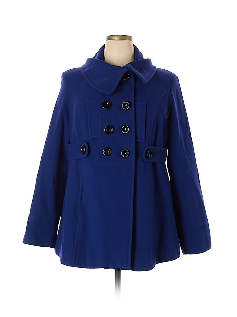 Lane Bryant Women Wool Coat Size 18 - 20 Plus (Plus)