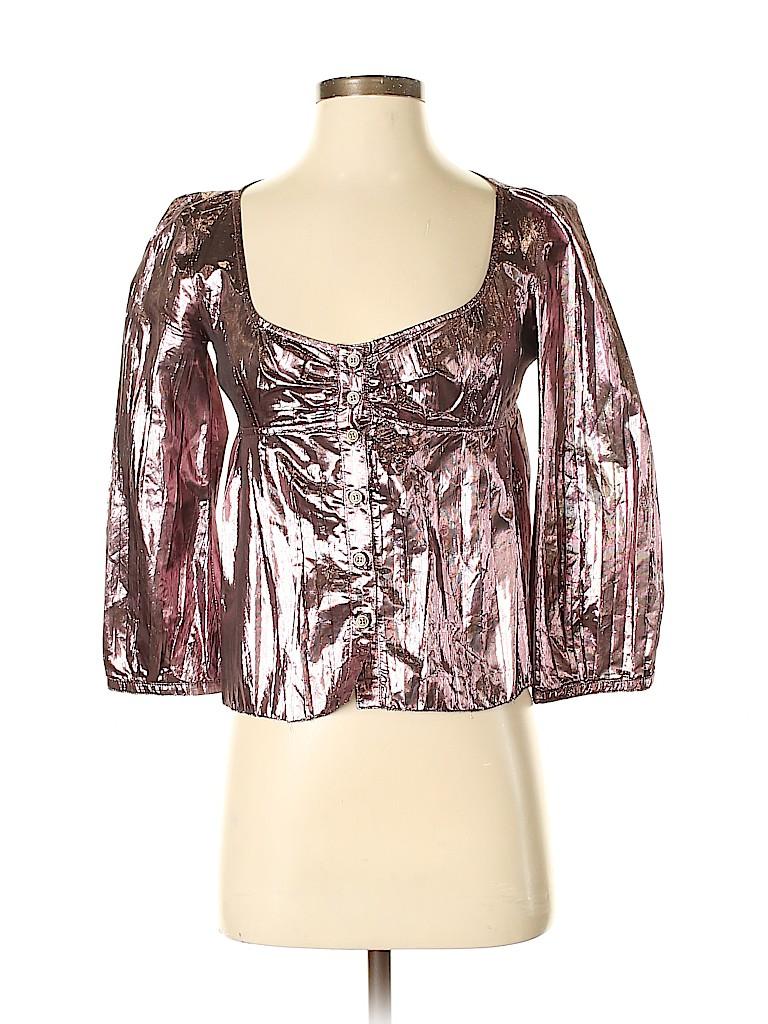Burberry Women Long Sleeve Silk Top Size 38 (IT)