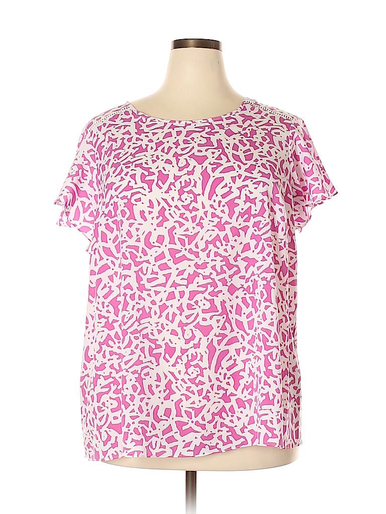 Lane Bryant Women Short Sleeve Blouse Size 20 (Plus)