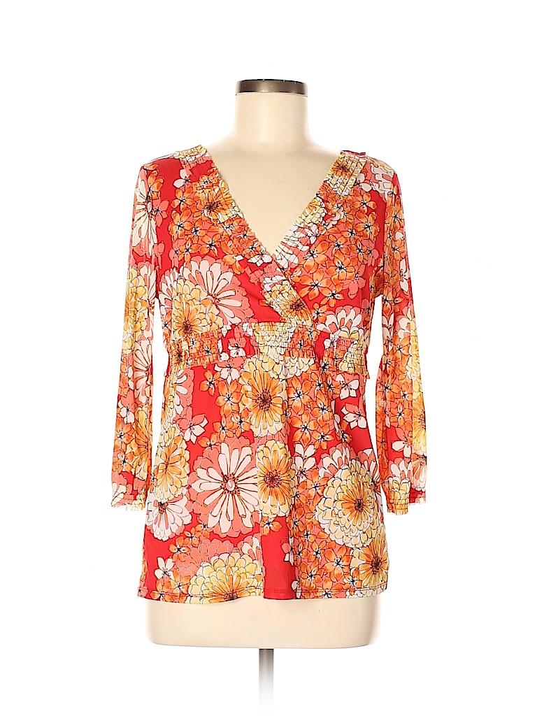 Axcess Women 3/4 Sleeve Blouse Size M