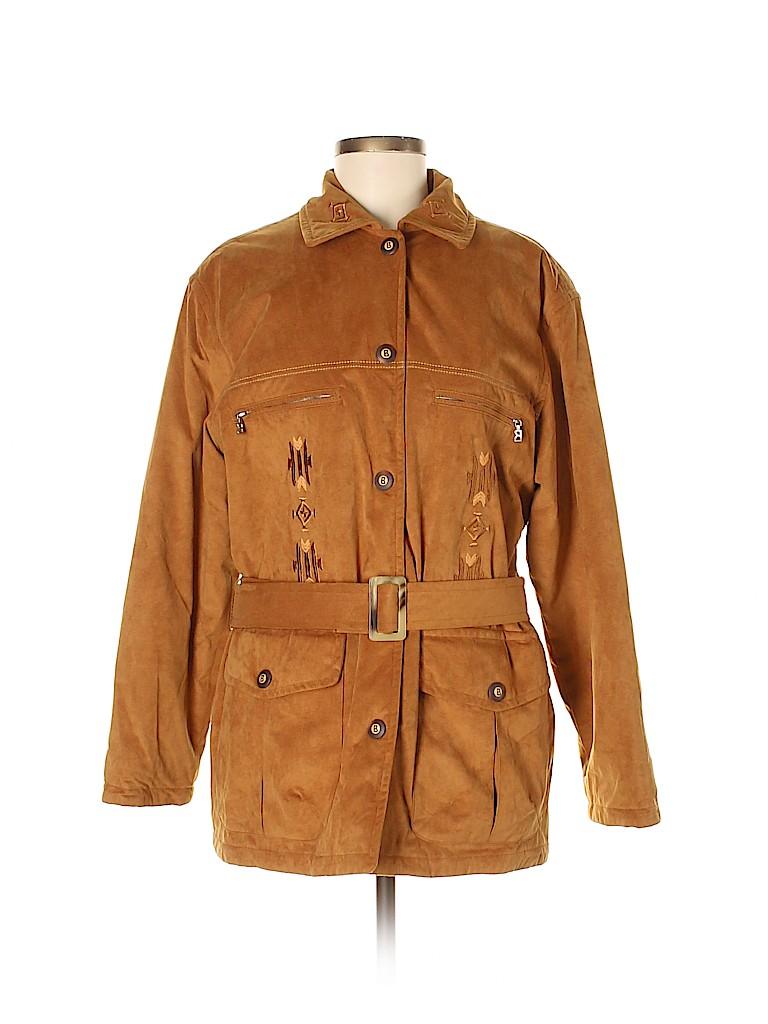 Bogner Women Faux Leather Jacket Size 8