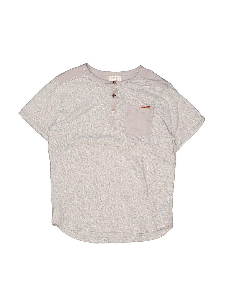 Zara Boys Short Sleeve Button-Down Shirt Size 5