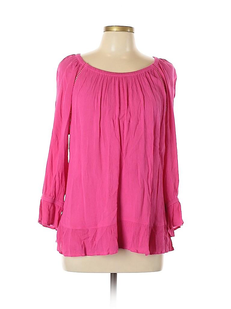 INC International Concepts Women 3/4 Sleeve Blouse Size XL