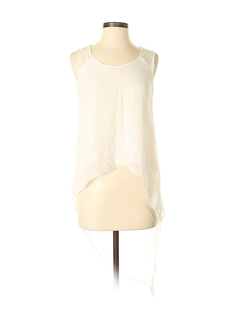 BCBGMAXAZRIA Women Sleeveless Silk Top Size XS
