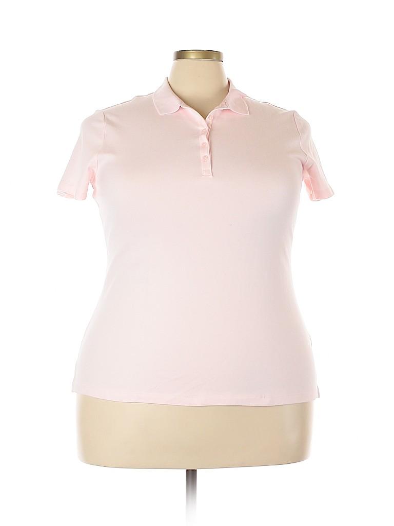 Croft & Barrow Women Short Sleeve Polo Size XXL