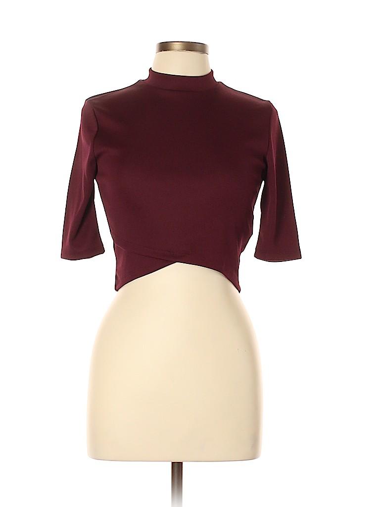 Forever 21 Women Short Sleeve Blouse Size L