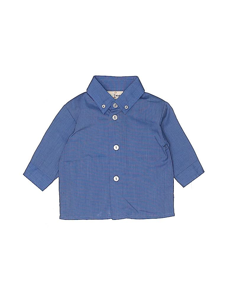 B.T. Kids Boys Long Sleeve Button-Down Shirt Size 3-6 mo