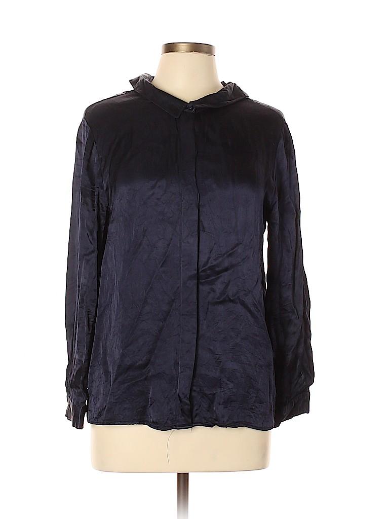 Zara Basic Women Long Sleeve Blouse Size L