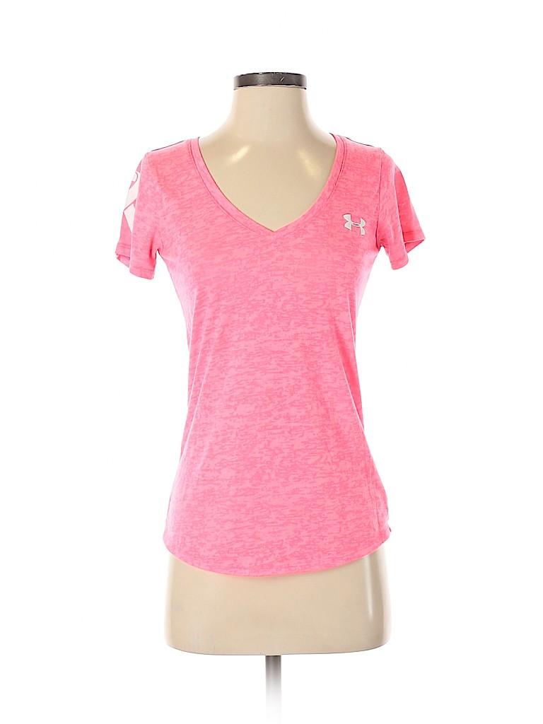 Under Armour Women Short Sleeve T-Shirt Size XS