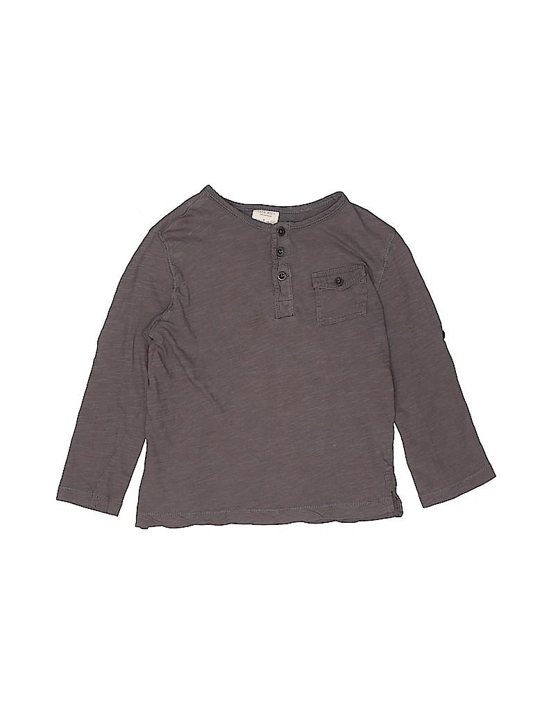 Zara Boys Long Sleeve Henley Size 5