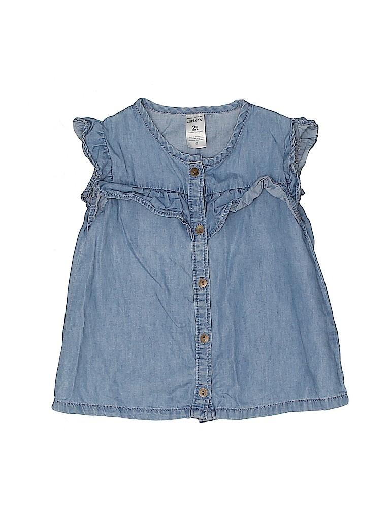 Carter's Girls Short Sleeve Blouse Size 2T