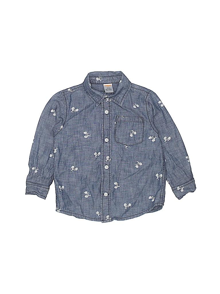 Gymboree Girls Long Sleeve Button-Down Shirt Size 3T