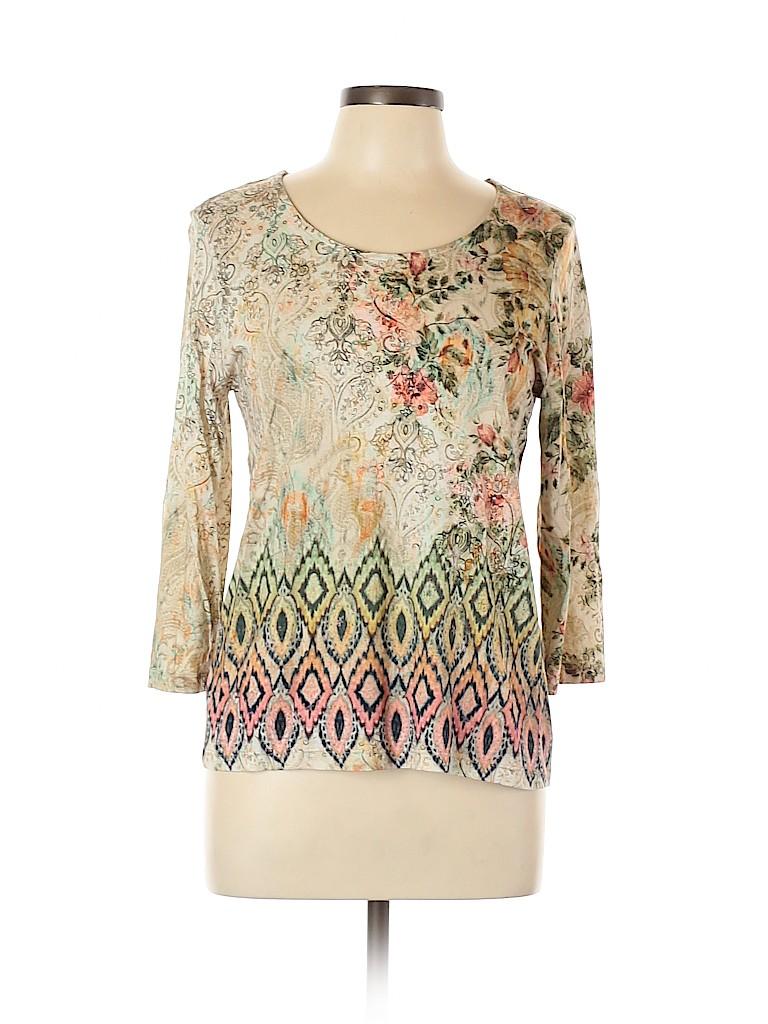 Chico's Women Long Sleeve T-Shirt Size Lg (2)