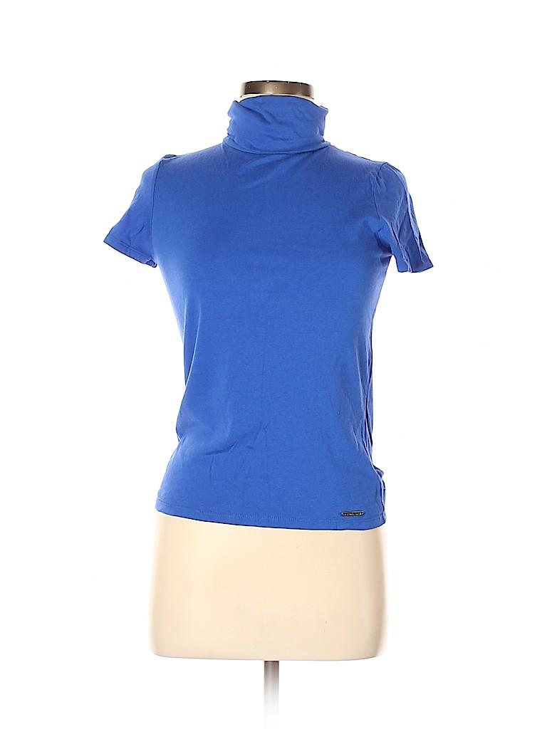 MICHAEL Michael Kors Women Short Sleeve Turtleneck Size M