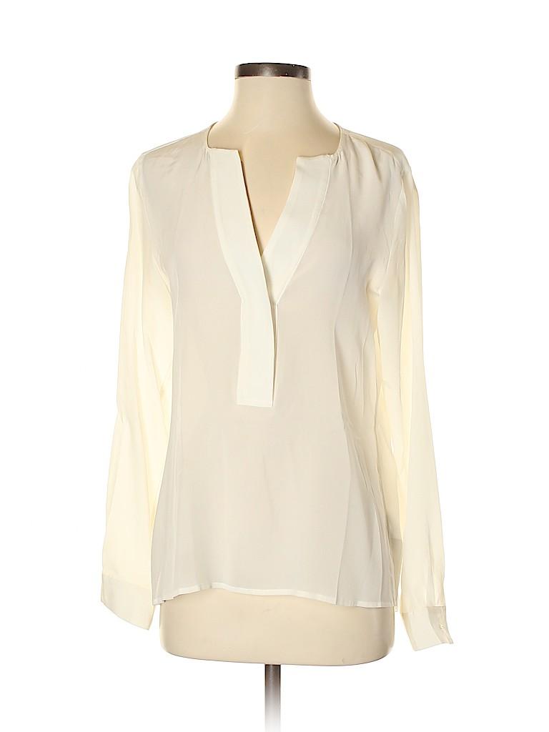 Banana Republic Women Long Sleeve Silk Top Size S