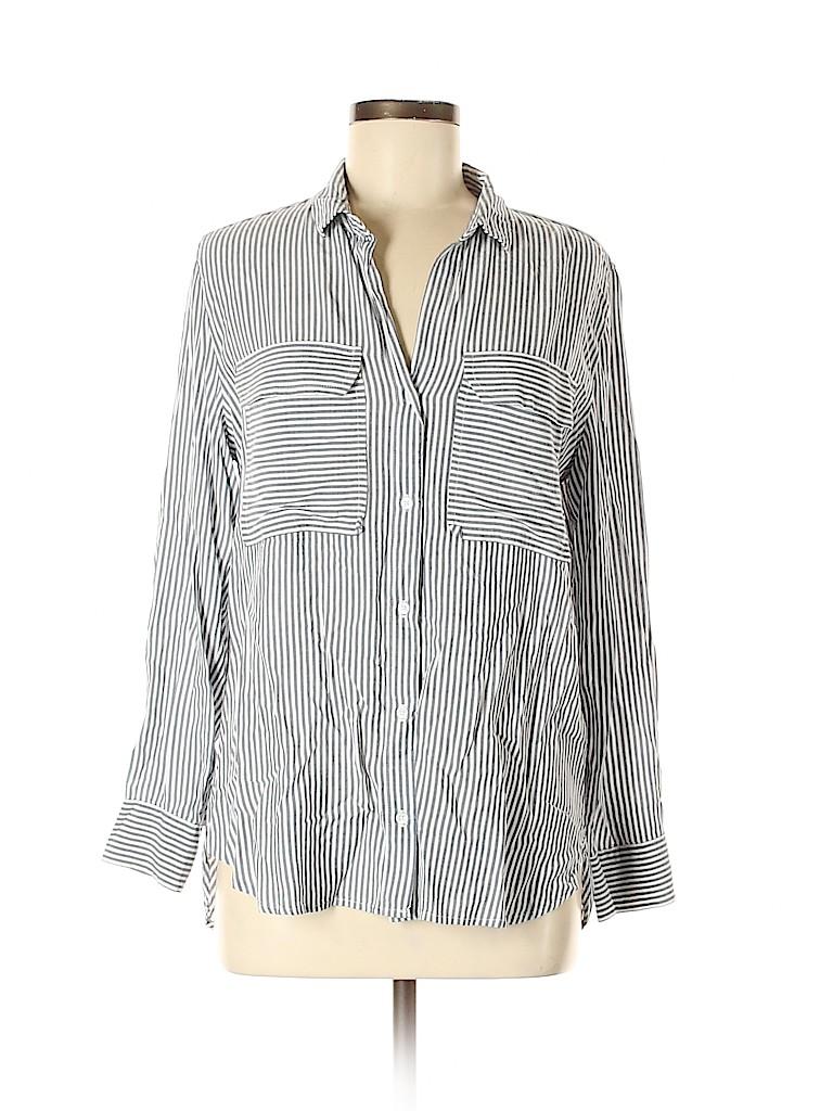 Gap Outlet Women Long Sleeve Button-Down Shirt Size M