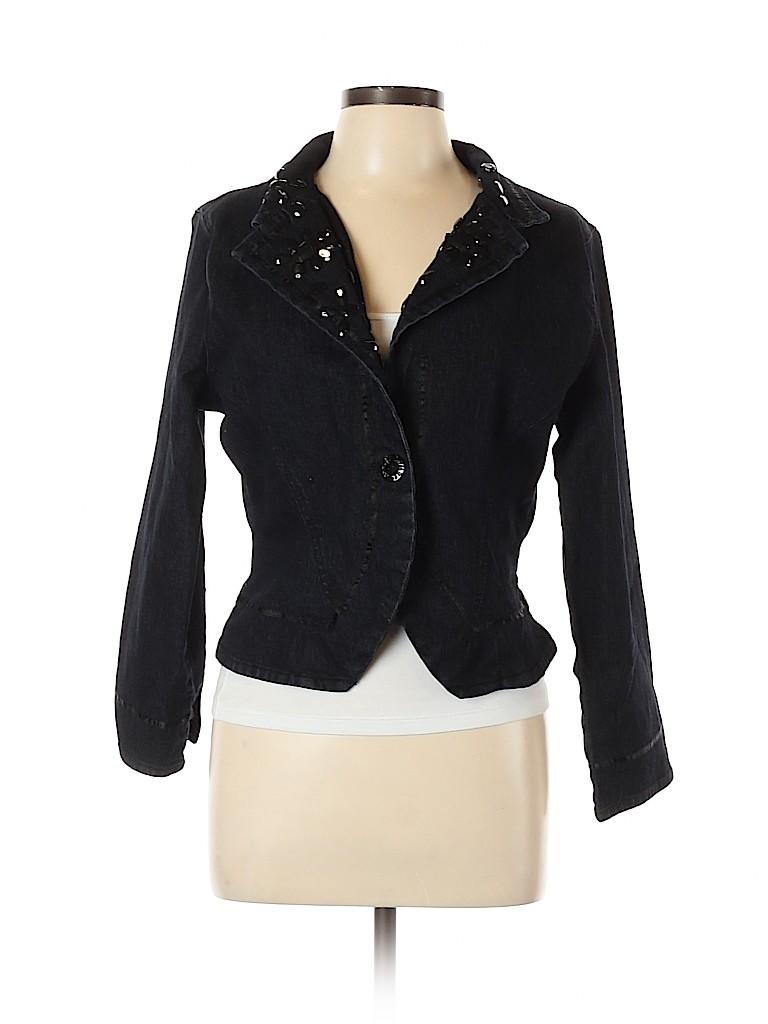 Ashley Stewart Women Denim Jacket Size 12 (Plus)