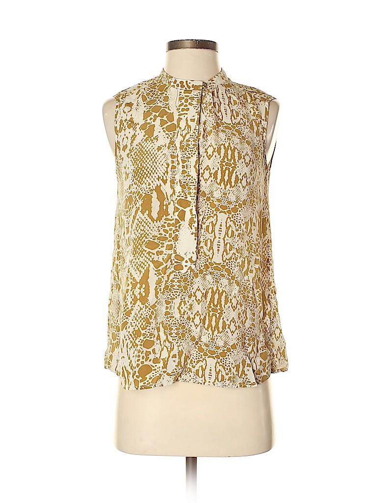 Joe Fresh Women Sleeveless Silk Top Size XS