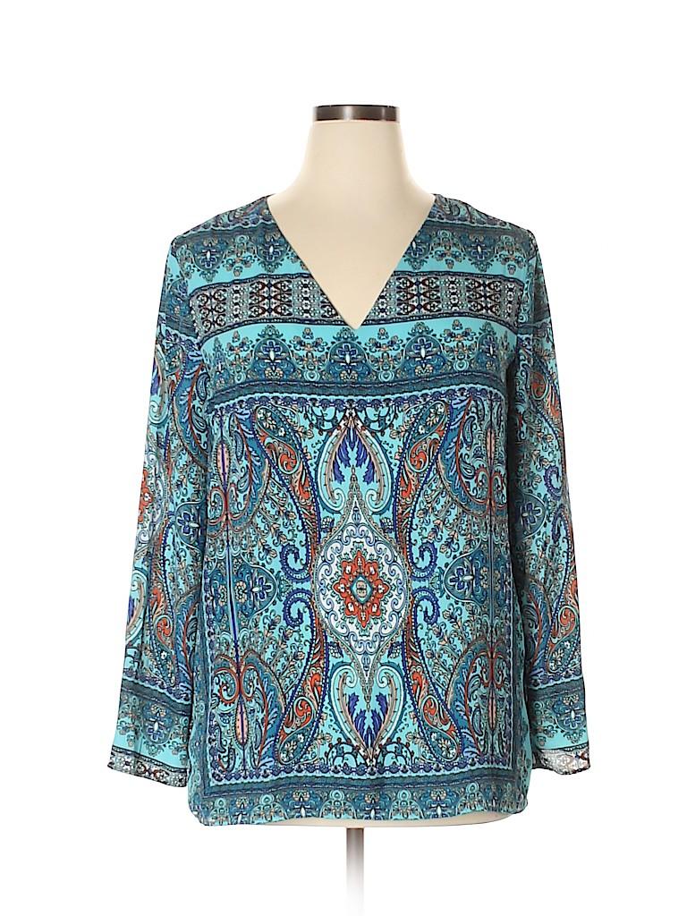 New York & Company Women Long Sleeve Blouse Size XL
