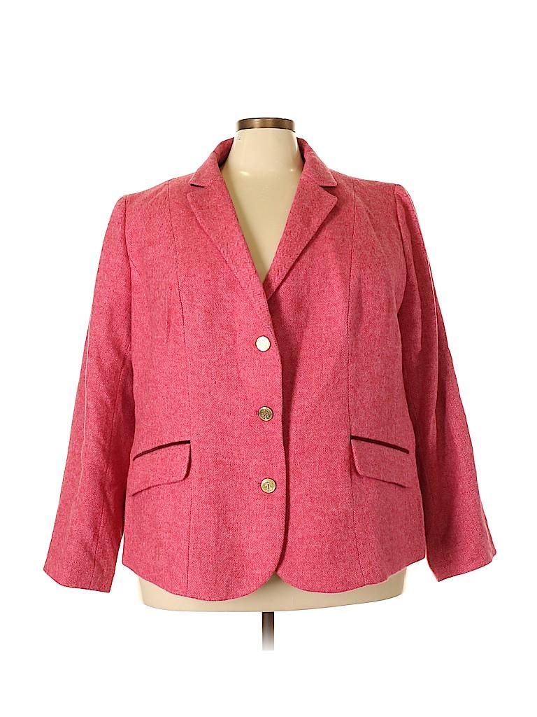 Talbots Women Blazer Size 24 (Plus)