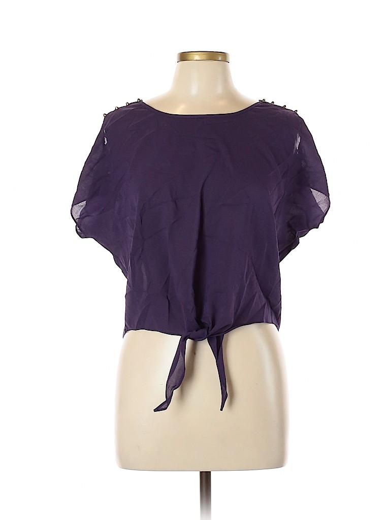Ya Women Short Sleeve Blouse Size L