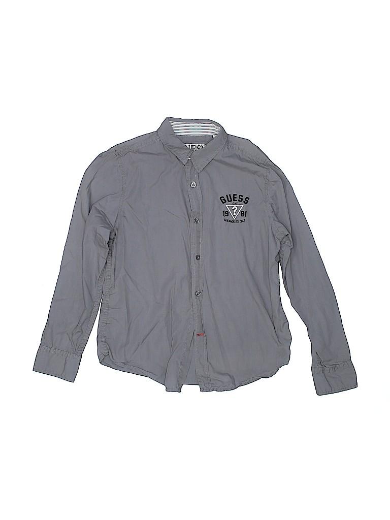 Guess Boys Long Sleeve Button-Down Shirt Size 12-14