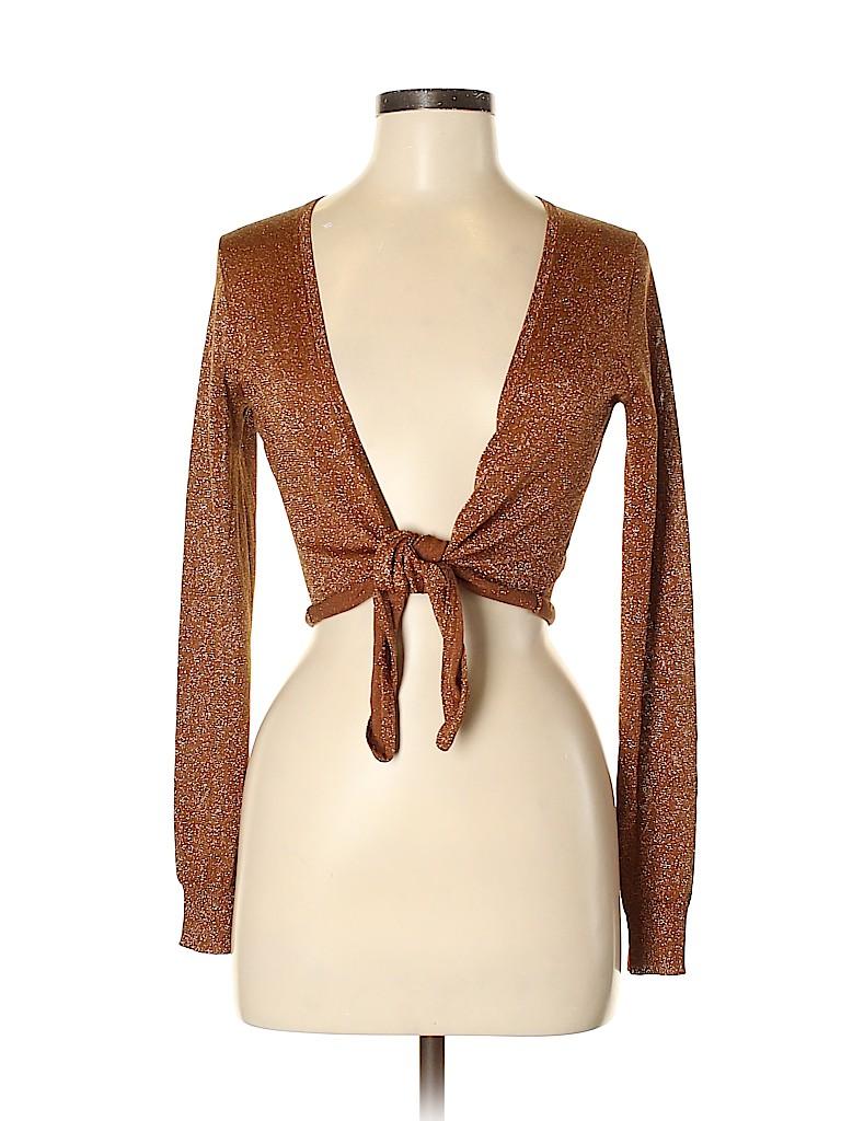 Express Women Long Sleeve Silk Top Size M