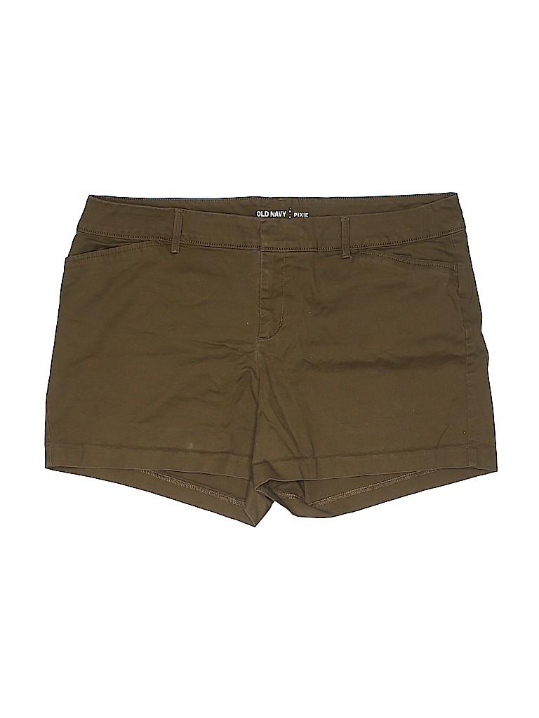 Old Navy Women Khaki Shorts Size 14