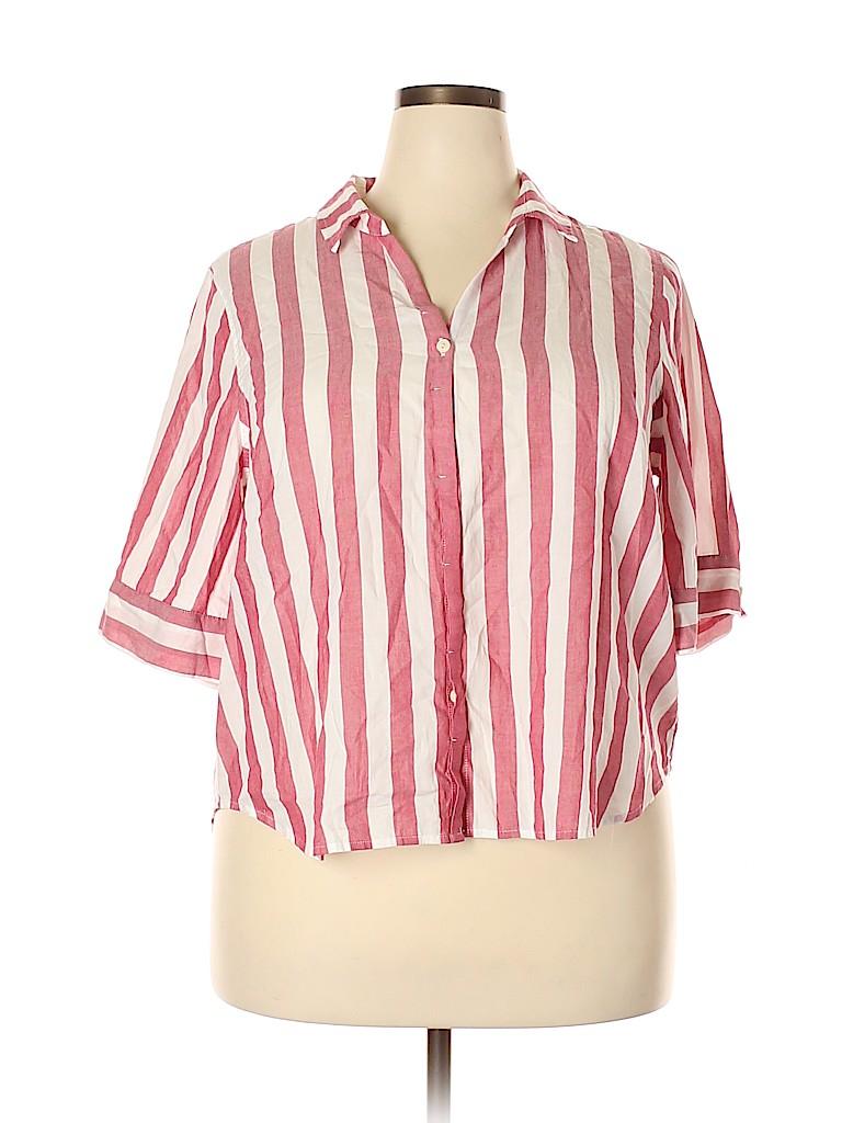 J. Crew Women Short Sleeve Blouse Size XXL