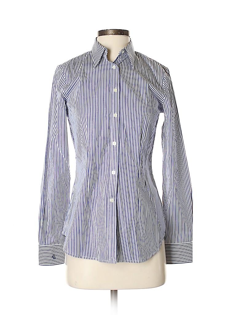 Lauren by Ralph Lauren Women Long Sleeve Button-Down Shirt Size 2