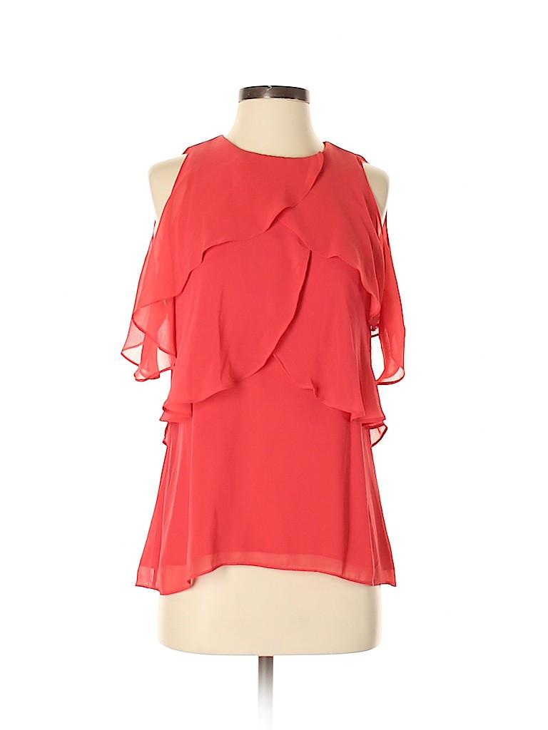 White House Black Market Women Short Sleeve Blouse Size XS