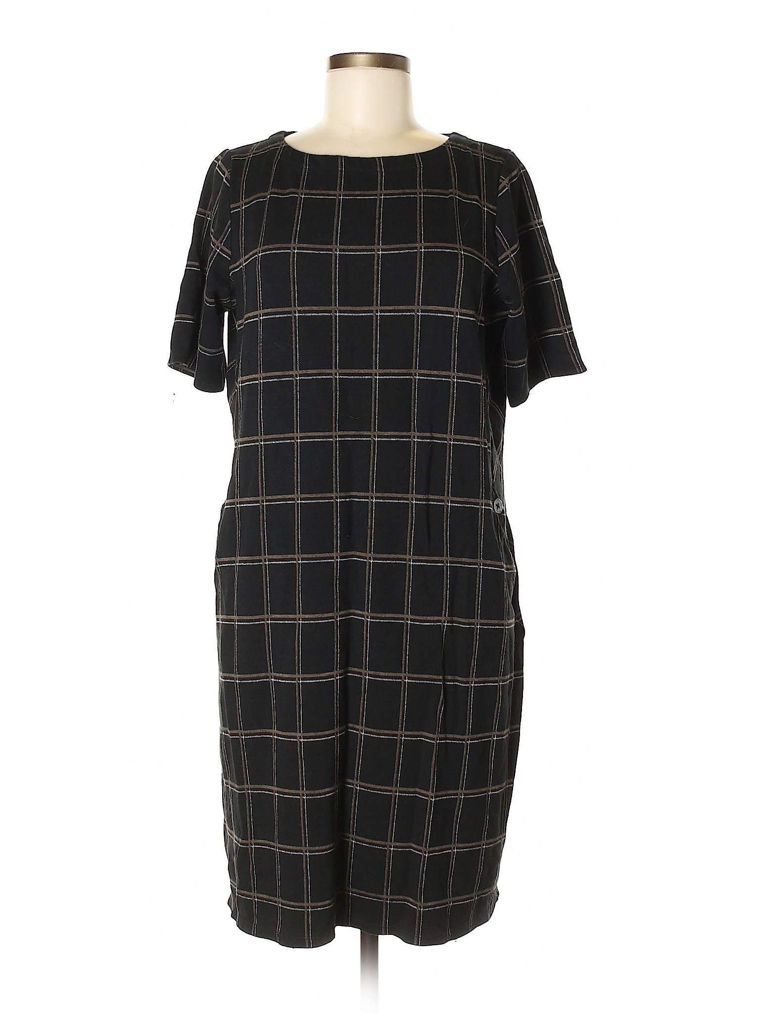 86128ba179d J.Jill Women Black Casual Dress Med Tall   eBay