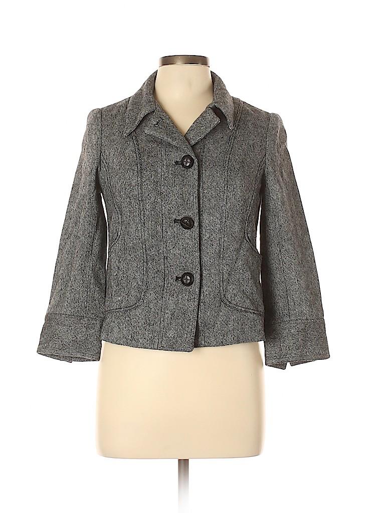 Jack Rogers Women Wool Blazer Size 6