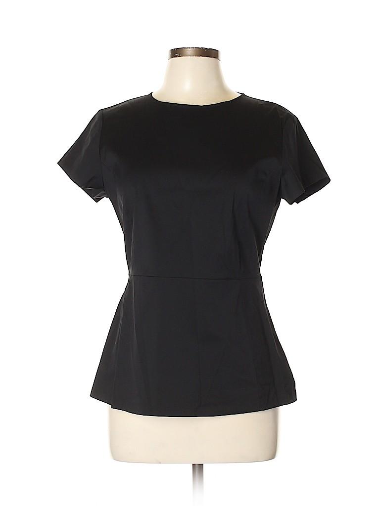 Theory Women Short Sleeve Blouse Size L