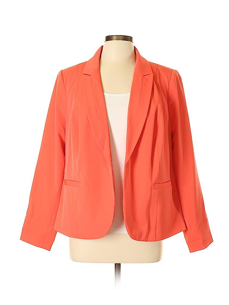 Worthington Women Blazer Size 0X (Plus)
