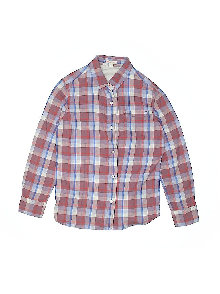 Crewcuts Girls Long Sleeve Button-Down Shirt Size 10