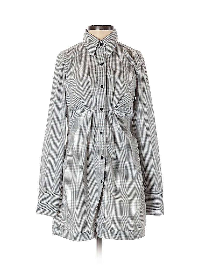 New York & Company Women 3/4 Sleeve Button-Down Shirt Size 2