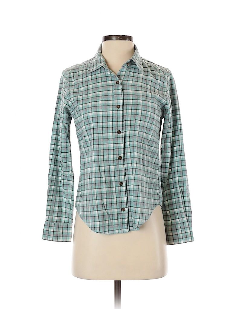 Pendleton Women Long Sleeve Button-Down Shirt Size S (Petite)