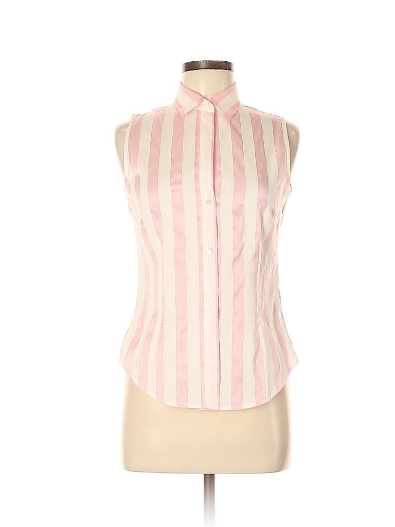 Burberry Women Sleeveless Button-Down Shirt Size 6