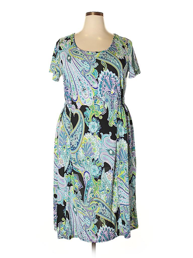 Elementz Women Casual Dress Size 1X (Plus)