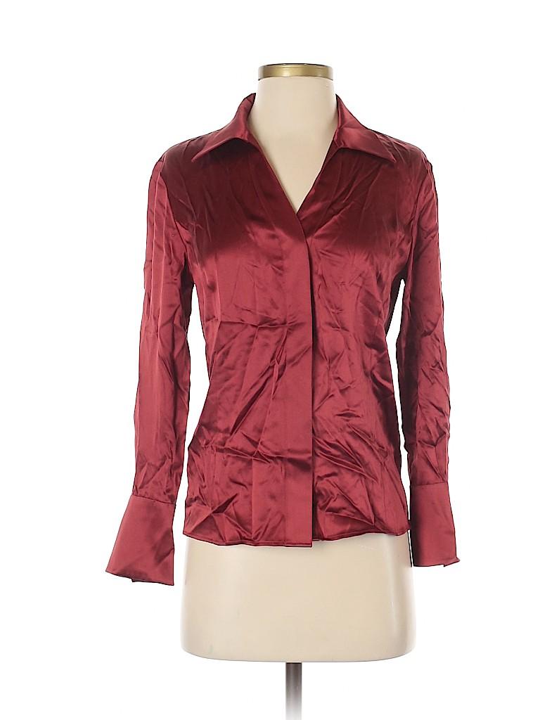 Lafayette 148 New York Women Long Sleeve Blouse Size 2