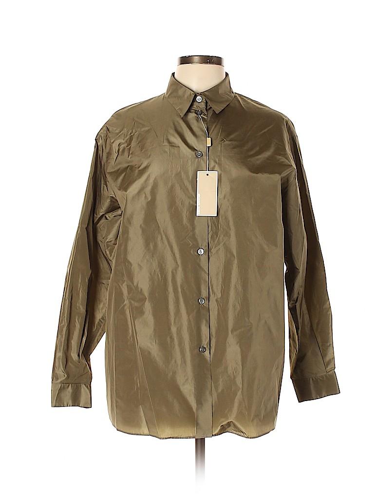 Michael Kors Women Long Sleeve Silk Top Size 12